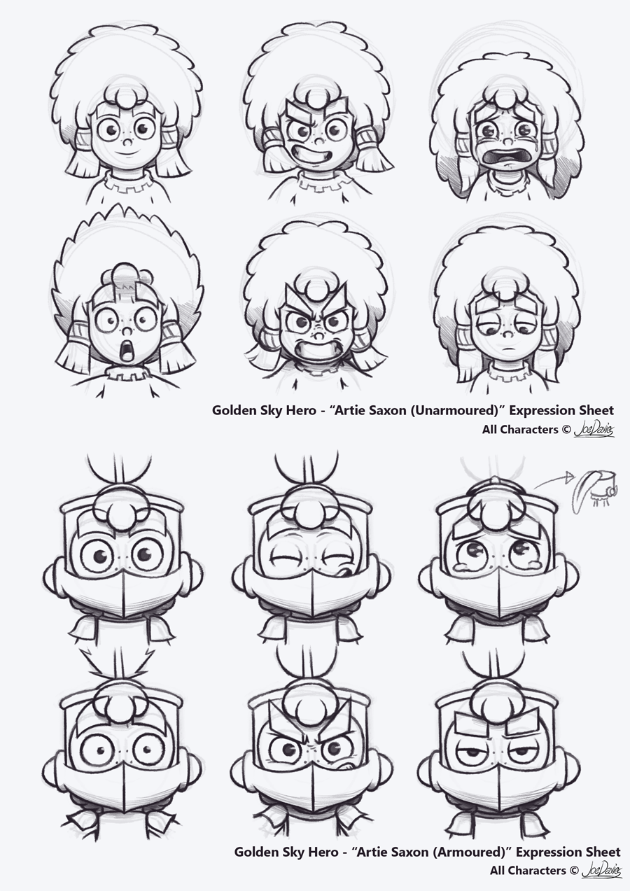 Expressions Sheets – Artie Saxon