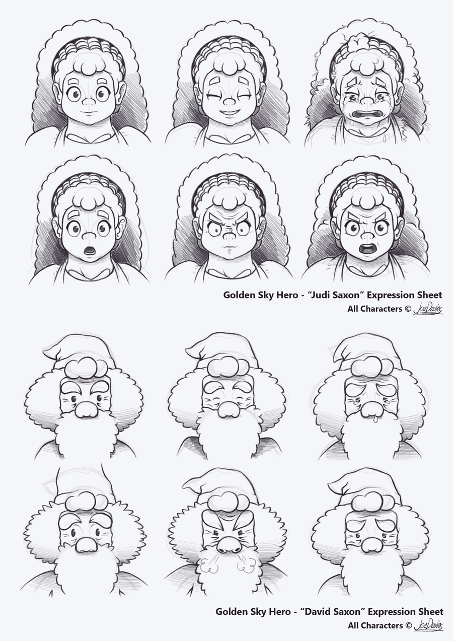 Expression Sheets – Judi Saxon & David Saxon