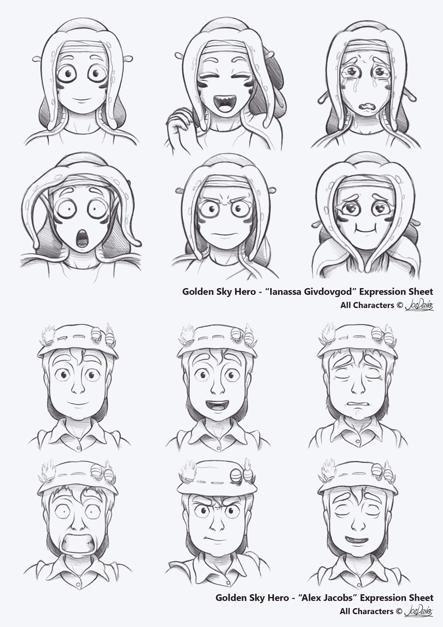 Expression Sheets – Ianassa & Alex