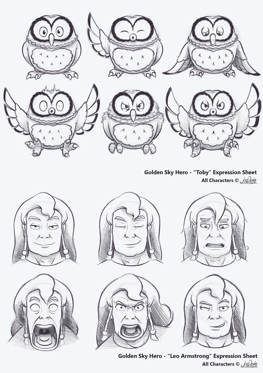 Expression Sheets – Toby & Leo Armstrong