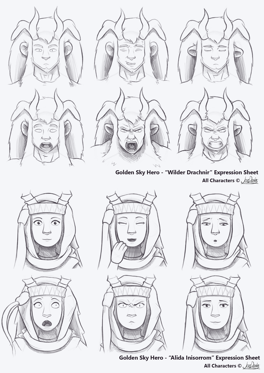 Expressions Sheets – Wilder & Alida